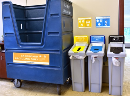 Utilize the optimal recycling containers and Set-up
